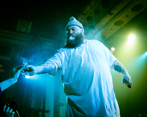 Action Bronson returns the J to the audience member